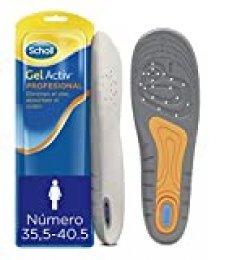 Scholl Plantillas Gel Activ Profesional para mujer, para calzado trabajo, absorción de impactos y amortiguación, talla 35.5 - 40.5, 1 par (2 plantillas)