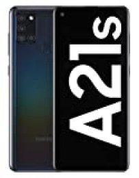 """Samsung Galaxy A21s - Smartphone de 6.5"""" (4 GB RAM, 64 GB de Memoria Interna, WiFi, Procesador Octa Core, Cámara Principal de 48 MP, Android 10.0) Negro [Versión española]"""