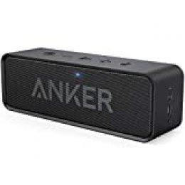 Soundcore de Anker Altavoces Bluetooth, 24 horas de reproducción, alcance de Bluetooth de 20 metros y micrófono integrado. Altavoz inalámbrico portátil, ideal para iPhone, Samsung y más
