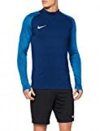 Nike M Nk Dry Strke Dril Top Long Sleeved T-Shirt, Hombre, Coastal Blue/lt Photo Blue/Coastal Blue/(White)