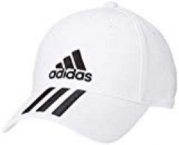 adidas 6p 3s Cap Cotto Hat, Unisex Adulto, White/Black/Black, OSFM