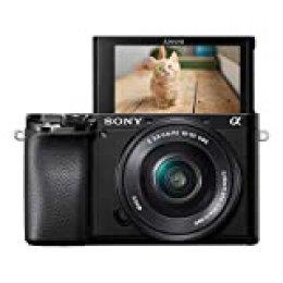 Sony Alpha 6100L - Cámara Evil de 24.2 MP (Sensor APS-C CMOS Exmor R, procesador Bionz X, 425 Puntos de AF a 0.02 s, Eye AF, grabación 4K) - Kit Cuerpo con Objetivo SELP1650