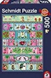Schmidt Spiele Paradies-Banderolen Puzzle - Rompecabezas (Puzzle Rompecabezas, Arte, Niños y Adultos, Paradies-Banderolen, Niño/niña, 12 año(s))