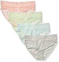 Amazon Essentials 4-Pack Lace Stretch Bikini Panty Mujer