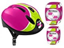 Stamp- Combo Pink Skids Control (Helm + Elbow & Knee Pads), Color Rosa, 52/56 (K670507)