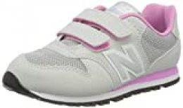 New Balance 500, Zapatillas para Niñas, Gris (Grey/Pink Ri), 39 EU