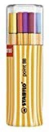 Rotulador punta fina STABILO point 88 - Estuche premium Big point box con 20 colores