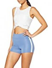Marca Amazon - AURIQUE Shorts de Deporte con Banda Lateral Mujer