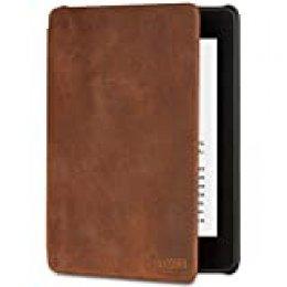 Funda de cuero de alta calidad para Kindle Paperwhite (10.ª generación - modelo de 2018)