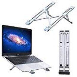 ⭐️KLIM TM Steady - Soporte portátil + Estructura de aluminio ligera y resistente + 5 años de garantía + Elevador portatil ajustable compatible hasta 15,6 pulgadas + Soporte tablet plegable + NUEVO 2020
