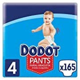 Dodot Pants Pañal - Braguita Talla 4, 165 Pañales, 9 kg - 15 kg, Pañal - Braguita con Ajuste 360° Anti - fugas, 8001841898407