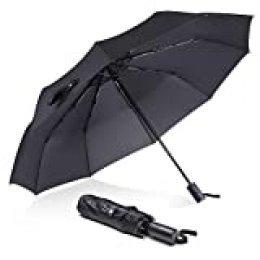 Paraguas Ultraligero, REYLEO PU01A - 8 Varillas de Fibra de Vidrio, Totalmente a Prueba de Luz, Anti-Viento, Enfriador 4~7℃ en Verano, Recubrimiento UVoutex Fabrics, Anti-UV hasta 99.99%, Inodoro