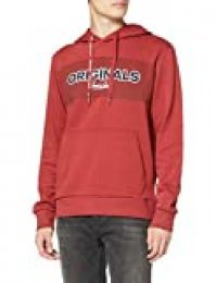 Jack & Jones Jormastul Sweat Hood Sudadera con Capucha, Azul (Brick Red Fit: Reg), L para Hombre
