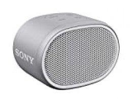 Sony SRSXB01W, Altavoz Portátil (Compacto, Bluetooth, Extra Bass, 6H de Batería, Resistente Al Agua IPX5, Viene con Correa), Inalámbrico, MicroUSB, Blanco