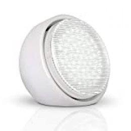 MiniSun – Elegante lámpara de mesa LED - Compacta de alta potencia (12w), portátil y de color blanco