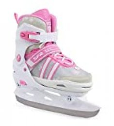 Sfr Skates Nova Adjustable Ice Skates Patines Patinaje Infantil, Juventud Unisex, Multicolor (White/Pink), 33-37
