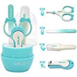 Halovie Cortauñas Clippers de uñas de bebé Set con tijeras Pinzas Lima de uñas Set de cuidado de uñas de bebé Accesorios para niñas y niños