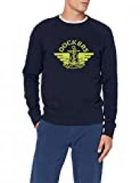 dockers Sweatshirt Sudadera, Azul (1986 Logo Alpha F Terry Crew Pembroke + Sulpher Spring 0093), XL para Hombre