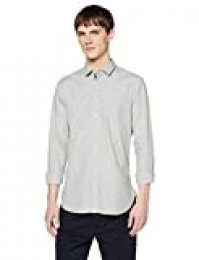 BOSS Magneton_1 Camisa, Verde (Open Green 349), Medium para Hombre