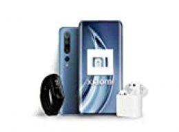 """Xiaomi Mi 10 Pro Pack Lanzamiento (Pantalla FHD+ 6.67"""", 8GB+256GB, Camara de 108MP, Snapdragon 865 5G, 4500mah con carga 50W, Android 10)Gris +Mi Band 3 +Mi True Wireless Earphone 2 [Versión española]"""