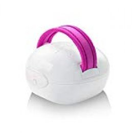 Medisana AC 855 88545 Masajeador para Celulitis por Amasamiento, Succión e Infrarrojos, Blanco/Fucsia, 10.6 x 8.2 x 12.6 cm, 0.26 kg