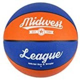 Midwest niños de la Liga de Baloncesto, Color Azul y Naranja, tamaño 3