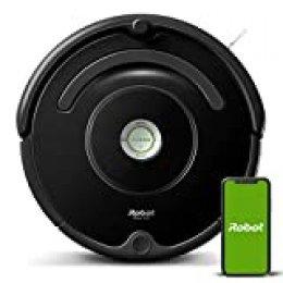 iRobot Roomba 671 Robot aspirador Wifi, óptimo para alfombras y suelos duros, Tecnología Dirt Detect, Sistema de limpieza en 3 fases, Sugerencias personalizadas, Compatible con asistentes de voz