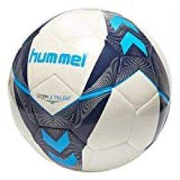 hummel Storm Ultra Light FB Ball, Unisex Adulto, Blanco/Azul índigo/Turquesa, 4