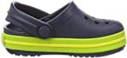 Crocs Crocband Clog K, Zuecos con Correa Unisex-Bambini, Azul (Navy/Volt Green), 19/20 EU