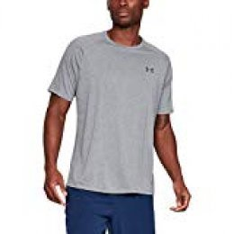 Under Armour UA Tech 2.0 SS tee Camiseta, Hombre, Gris (Steel Light Heather/Black 036), XXL
