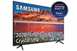 "Samsung Crystal UHD 2020 55TU7005- Smart TV de 55"" con Resolución 4K, HDR 10+, Crystal Display, Procesador 4K, PurColor, Sonido Inteligente, Función One Remote Control y Compatible Asistentes de Voz"