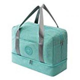 Agolaty Sports Bag, Unisex-Youth, Green, Large