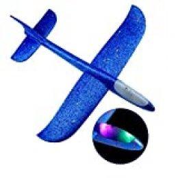 """Ajcoflt Aviones Planeador,Avión de Lanzamiento Volador con luz LED de Destello,18.9"""" Lanzar Manual Planeador,Mano Lanzamiento Glider Aviones,Juguete Planeador Espuma,Modelo de Avion Deportes al Aire"""