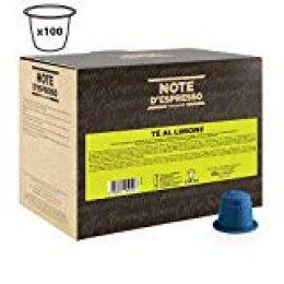 Note D'Espresso - Cápsulas de té al limón, 8g (caja de 100 unidades)