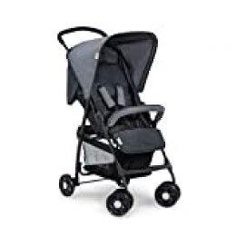 Hauck Sport Silla de paseo ultra ligera de 5,9kg, sistema de arnés de 5 puntos, respaldo reclinable, plegable, para bebes de 6 meses a 15kg, gris