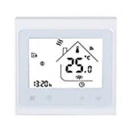 WiFi Termostato Inteligente, Pantalla táctil LCD Controlador de Temperatura de calefacción eléctrica para el hogar y la Oficina, Control Remoto en línea por teléfono Inteligente