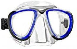 Mares 411055 Máscara de Natación, Unisex Adulto, Multicolor (Blue/Black/Clear), Talla Única