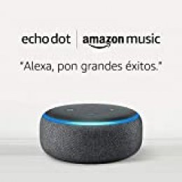 Echo Dot (3.ª generación) - tela de color antracita + 1 mes de Amazon Music Unlimited por 19,98 €