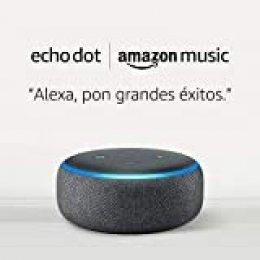 Echo Dot (3.ª generación) - tela de color antracita + 1 mes de Amazon Music Unlimited por 19,98 €