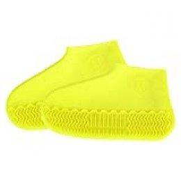 Cubierta del Zapato, Cubrecalzado, Cubierta del Zapato Impermeable, Funda de Silicona para Zapatos con Suela Antideslizante, Lavable Cubierta del Zapato Reutilizable Para Días de Lluvia y Nieve-L
