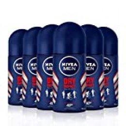 NIVEA MEN Dry Impact Roll-on en pack de 6 (6 x 50 ml), desodorante antitranspirante con protección 48 h, desodorante roll-on de cuidado masculino testado en la vida real