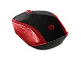 HP - Ratón Inalámbrico HP 200 con Perfil Redondeado, Color Rojo