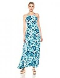Marca Amazon - 28 Palms Tropical Hawaiian Print Halter Maxi Dress - dresses Mujer