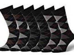 Easton Marlowe 6 PR Calcetines Estampados Hombre Argyle - 6pk #2-9, argyle - negro, 39-42 EU shoe size