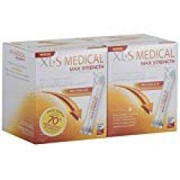 XL-S Medical Max Strength - Bloqueador de la absorción de Carbohidratos, Azúcares y Grasas - Tratamiento para Adelgazar - Reduce la ingesta de Calorías y Antojos - Pack 2 x 60 Sticks, 2 Meses de Trata