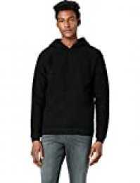Marca Amazon - find. Wool Mix, Sudadera de Punto con Capucha Hombre, Negro (Schwarz), XL, Label: XL