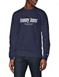 Tommy Hilfiger Essential Swt Sudadera con Cuello Redondo, Azul (Twilight Navy), S para Hombre