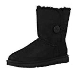 UGG Female Bailey Button II Classic Boot, Black, 8 (UK)