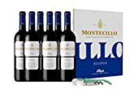 Vino Tinto D.O. Rioja Montecillo Reserva - 6 botellas de 75 cl - Total: 450 cl + Sacacorchos verde de regalo