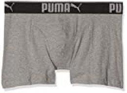 Puma 3 x Mens Sueded Cotton Boxer Shorts Grey Melange Medium